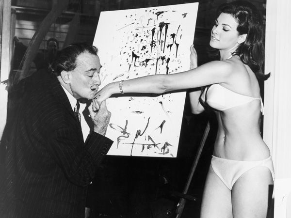 Salvador Dali + Raquel Welch