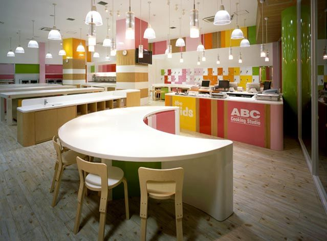 kids cooking school interior design related to Colorful kids