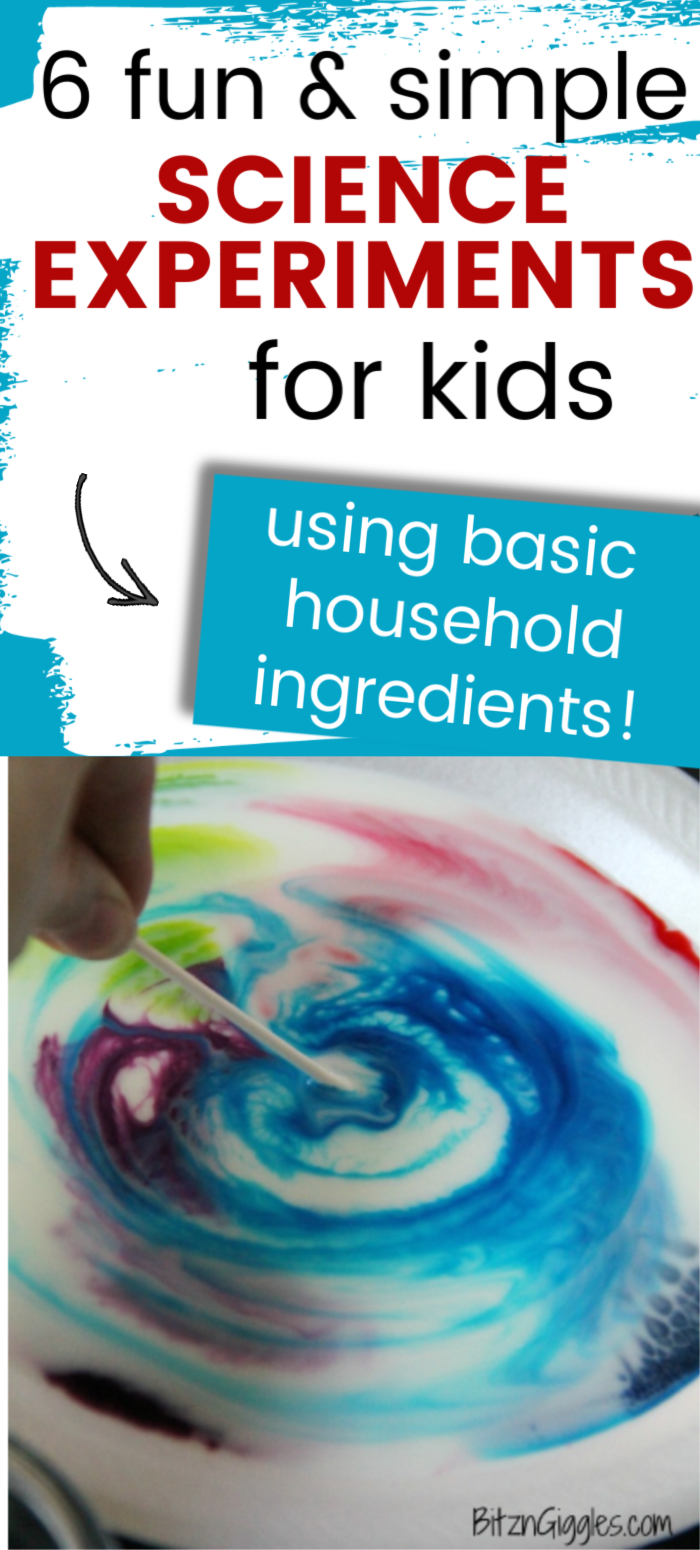 6 Fun Science Experiments to Do at Home (using household