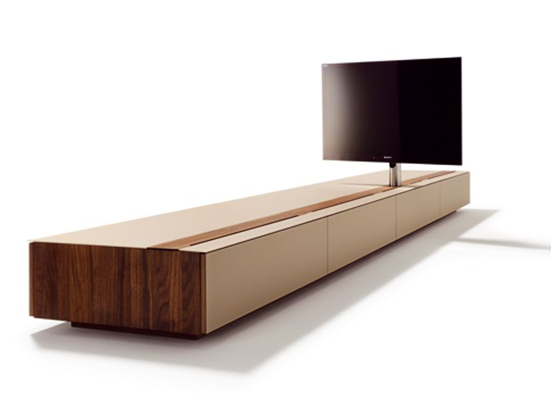 Low Wooden TV Cabinet CUBUS Cubus Collection By TEAM 7