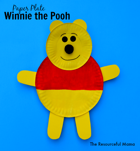 Winnie the Pooh Paper Plate Craft - The Resourceful Mama Winnie the Pooh kid craft made with paper plates Really want fantastic hints regarding arts and ... & Winnie the Pooh Paper Plate Craft   Craft Paper plate crafts and ...