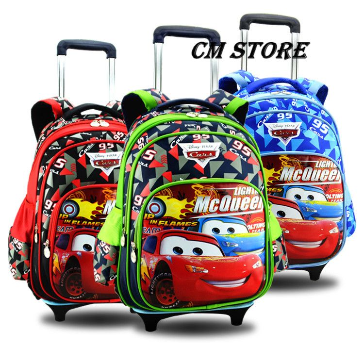 Free Shipping Hot New Primary Kids Backpacks Kids Trolley