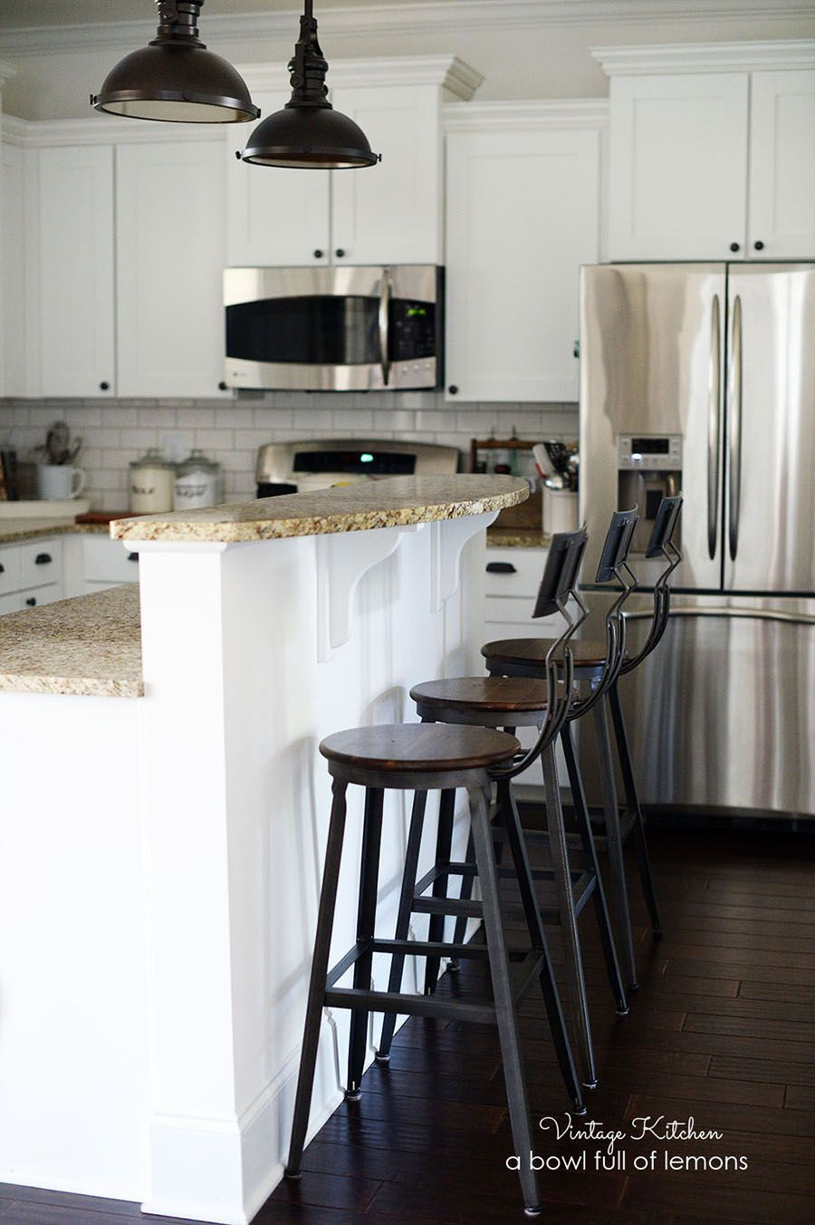 How To Add Vintage Style To A Builders Grade Kitchen By A