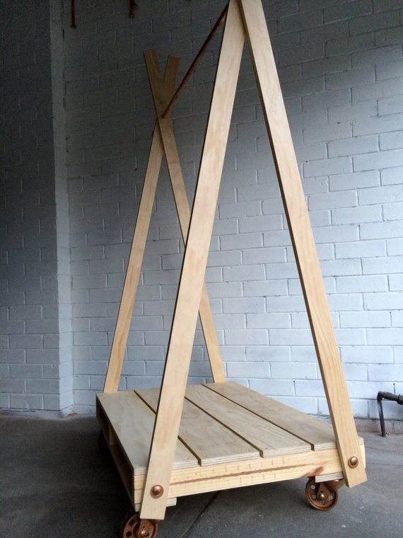 Pallet Garment Rack With Copper Bar Hang It Up