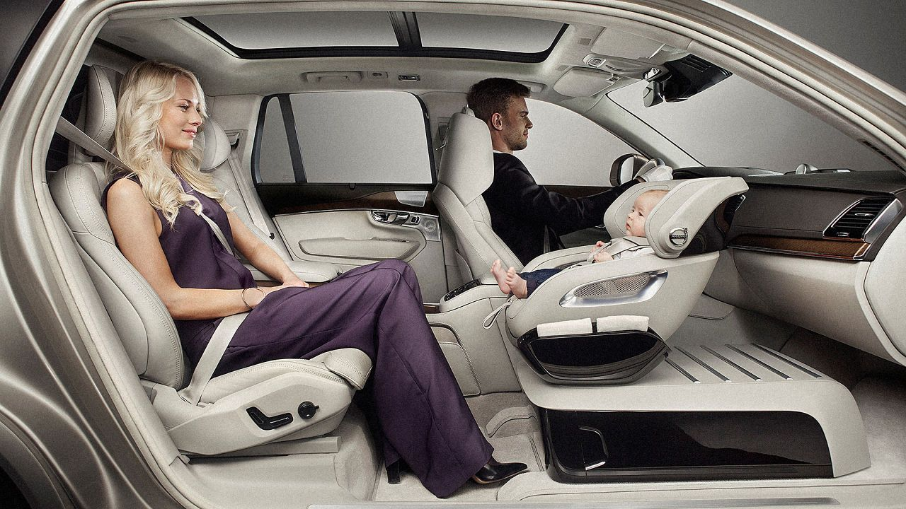 Volvo Designs A Safer Way For Kids To Ride In The Front Kids Seating Baby Car Seats Volvo Cars