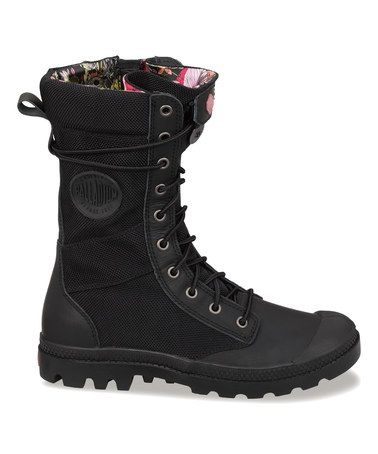 Another great find on #zulily! Black & Old Rose Pampa Tactical Boot - Women #zulilyfinds
