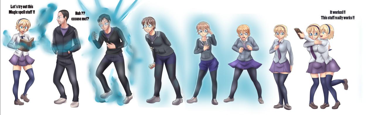Magic Spell Tg Sequence By Rezuban Deviantart Com On Deviantart Magic Spells Tg Transformation Gender Change