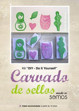 """Kit de Carvado de sellos """"made in SOMOS"""""""