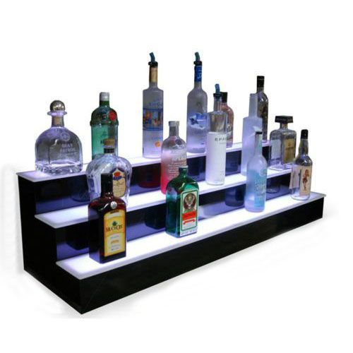 First Class Led Illuminated Display Stand For Champagne Wine Liquor And Beers Home Bar Sets Display Shelves Bottle Display