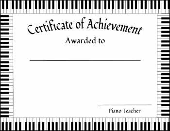 Piano recital certificate traditional pianos certificate and free award certificate templates for piano students edit right from you browser or pdf viewer yelopaper Images