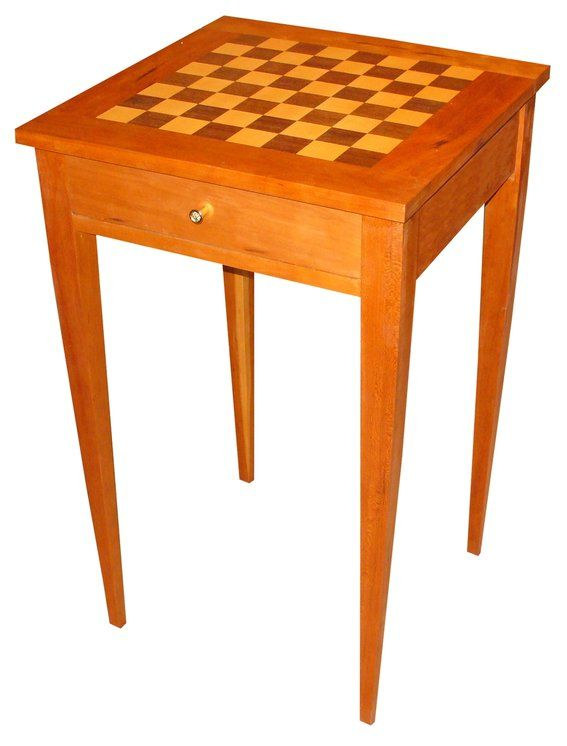 Other Inlaid Chess Or Games Board Set On Legs Occasional Table