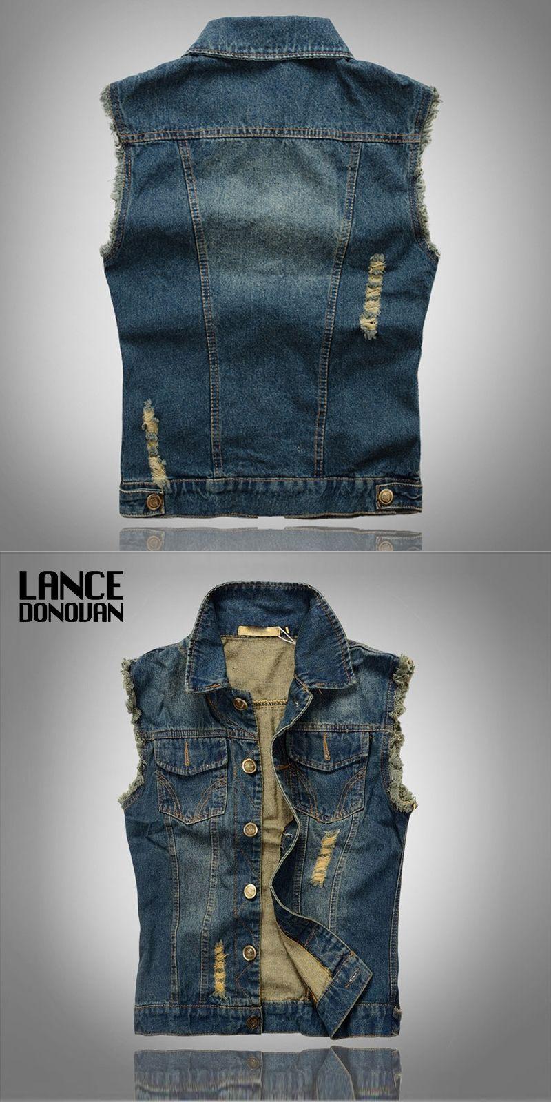 d63abbce887 Plus size 6XL 5XL 4XL 3XL XXL XL L M Denim vest men Hot sale New ...