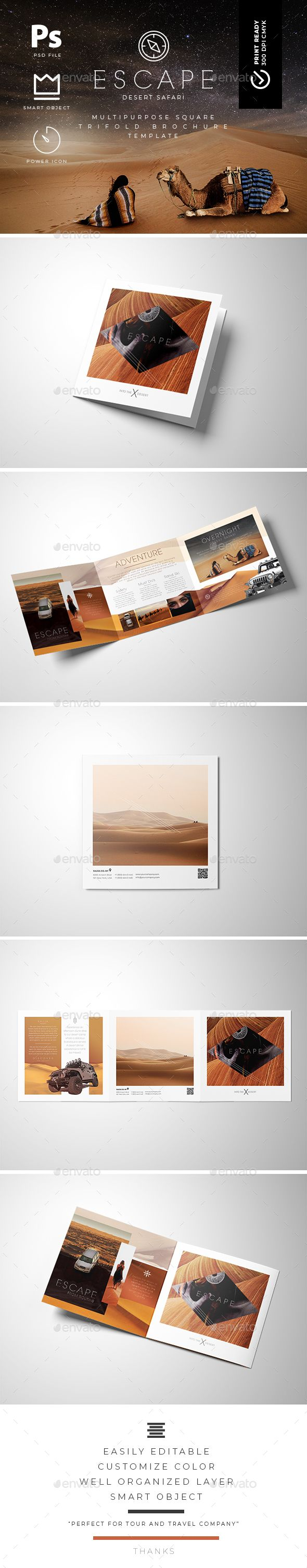 square trifold brochure template brochures print templates