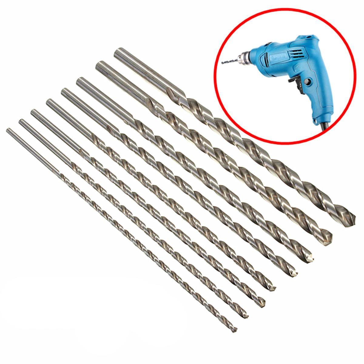 Drillpro 9pcs 2.35mm Shank 0.8-2.2mm HSS Twist Drill Bits