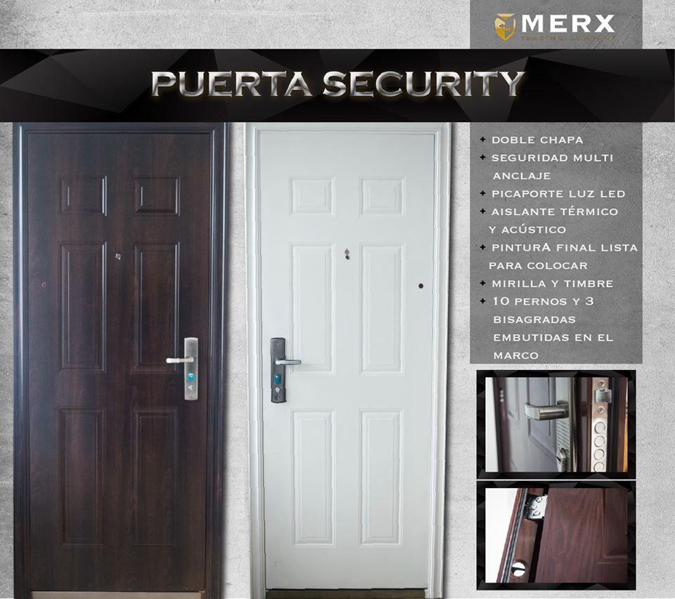 Puerta Security Disponible En Blanco Y Color Madera Picaportes Puertas Aislante Termico
