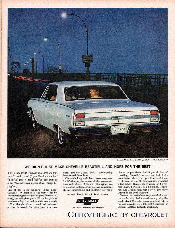 1964 Chevrolet Chevelle malibu Super Sport Advertisement Look Magazine June 16 1964