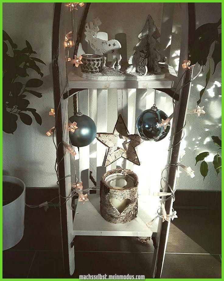 Zauberhafte Winterdeko; Schlitten #Ästeweihnachtlichdekorieren