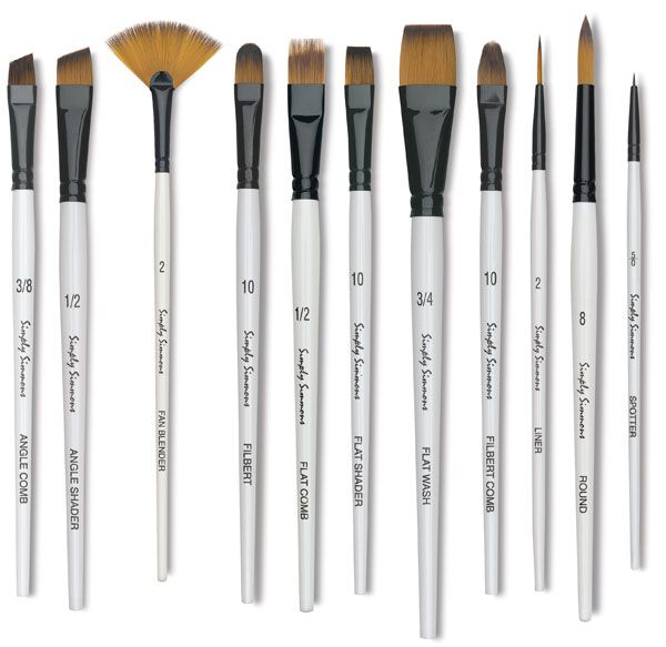 Simply Simmons Synthetic Brushes Paint Brushes Synthetic