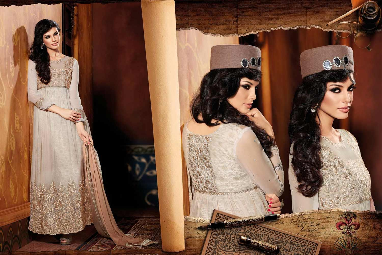 Cream Color Stunning Anarkali Suit | Wedding dresses lace ...