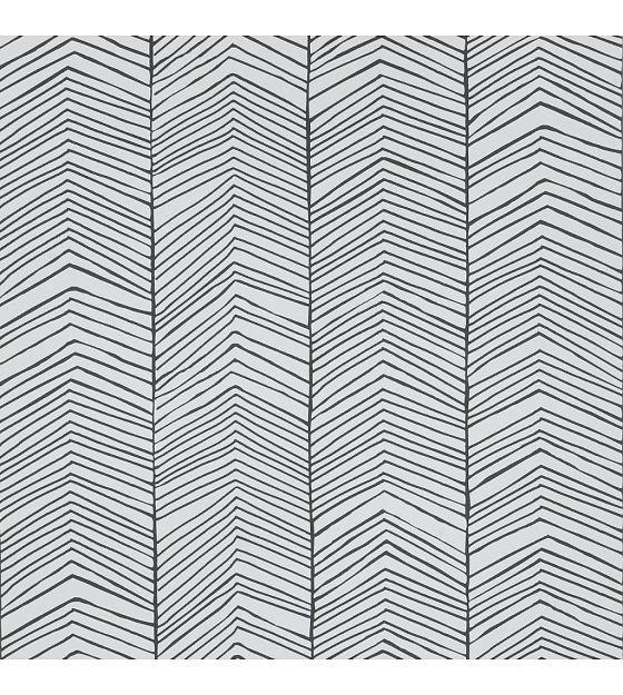 ferm living tapeten mit fischgr tmuster monochrome papier 53x1000cm wohnen. Black Bedroom Furniture Sets. Home Design Ideas