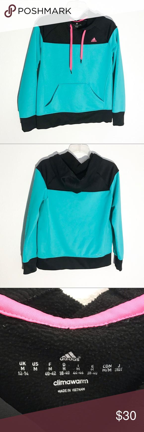 Adidas Climawarm Colorblock Hoodie Medium Hoodies Adidas Tops Sweatshirts Hoodie [ 1740 x 580 Pixel ]