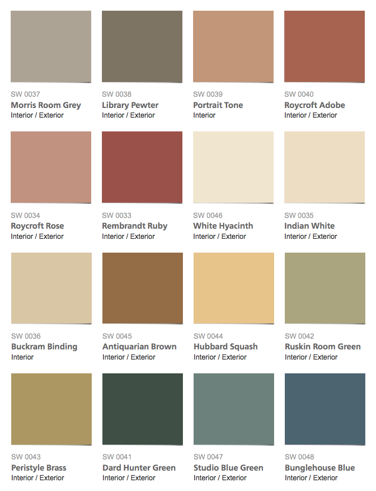 Bon Sherwin Williams U2013 Historic Color Collection U2013 Arts U0026 Crafts Interior Paint  Colors