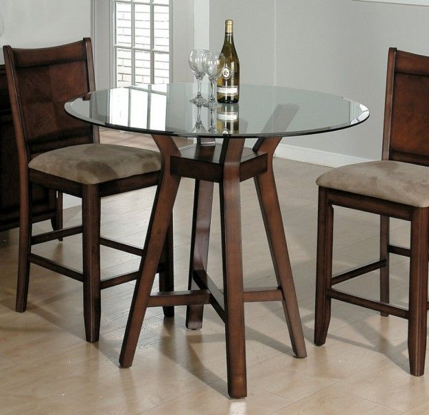Minimalist Dining Table Furniture Design With High Style Brown