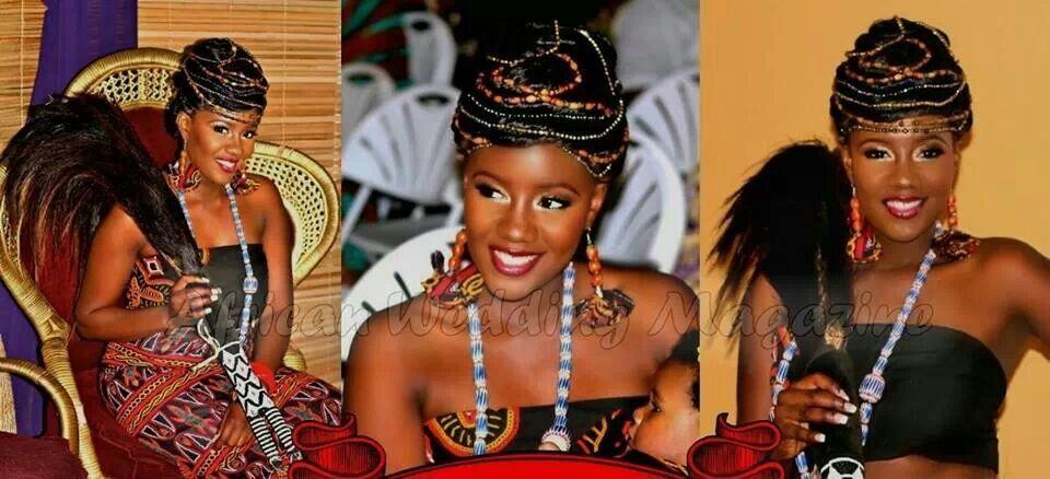 Cameroon bride bridal makeup african wedding african