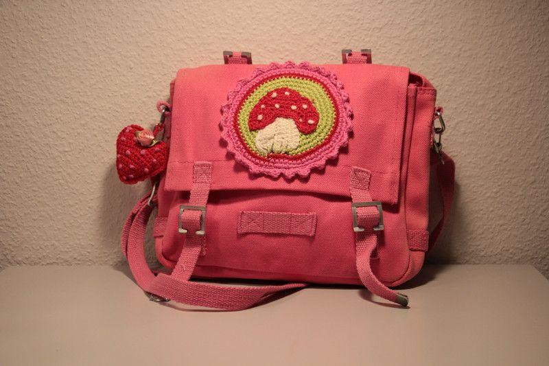 Kindergartentaschen - pinke Kindergartentasche - ein Designerstück von FraukesMaschenwald bei DaWanda