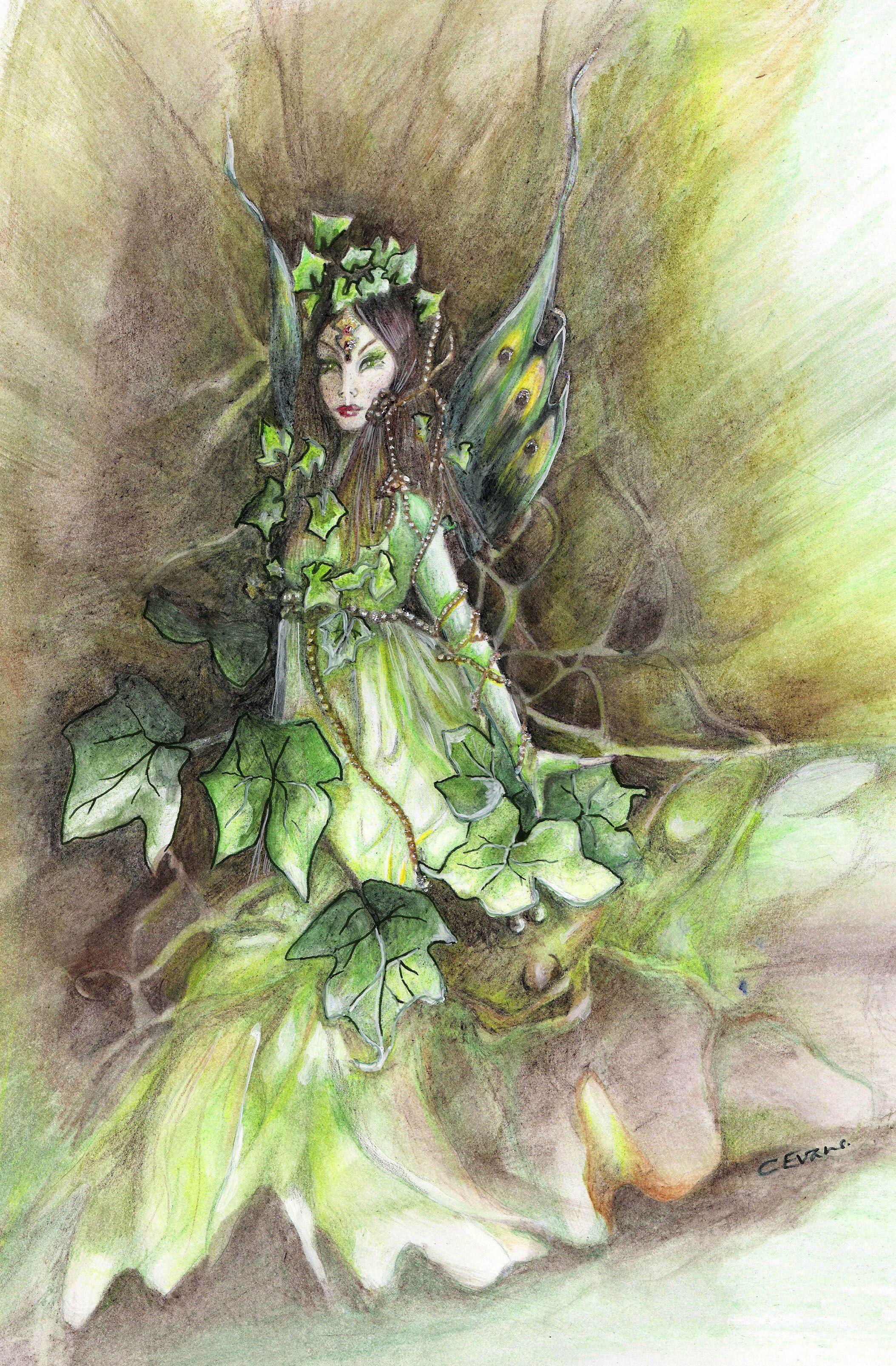 Title Irish Ivy Fae Artist Caroline Evans Fairies Fairy Art Faeries