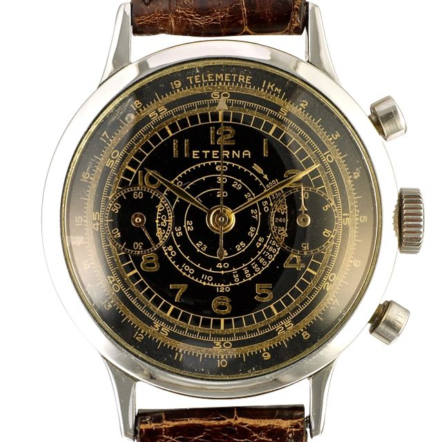 267c6c441a4 1950 Eterna Chronograph Tachymeter Telemeter by Timeline Watch
