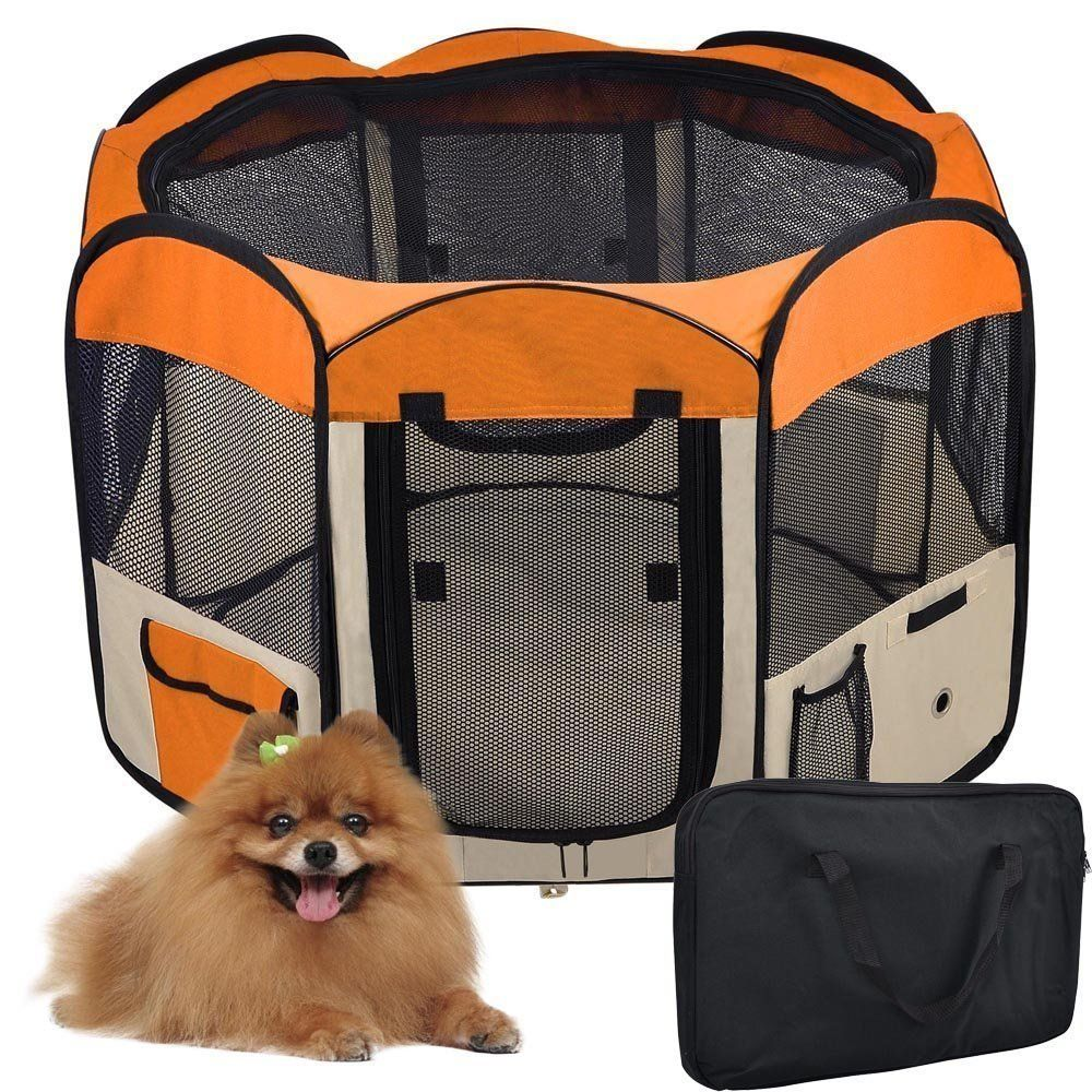 Portable 57 Inches X Large Waterproof Octagon Pet Playpen Kennel Dog Puppy  Exercise Training Pen