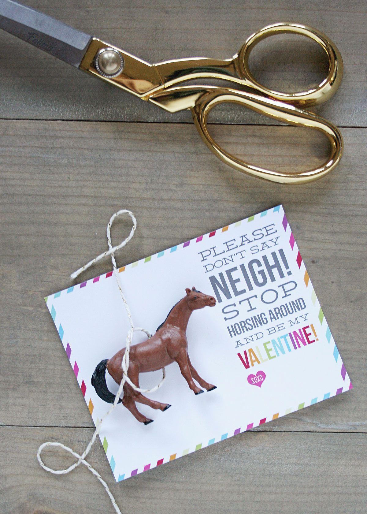 Horse Valentines Free Printable Donu0027t Say