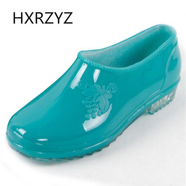 Women's Rain Shoes Low Style Jelly Rain