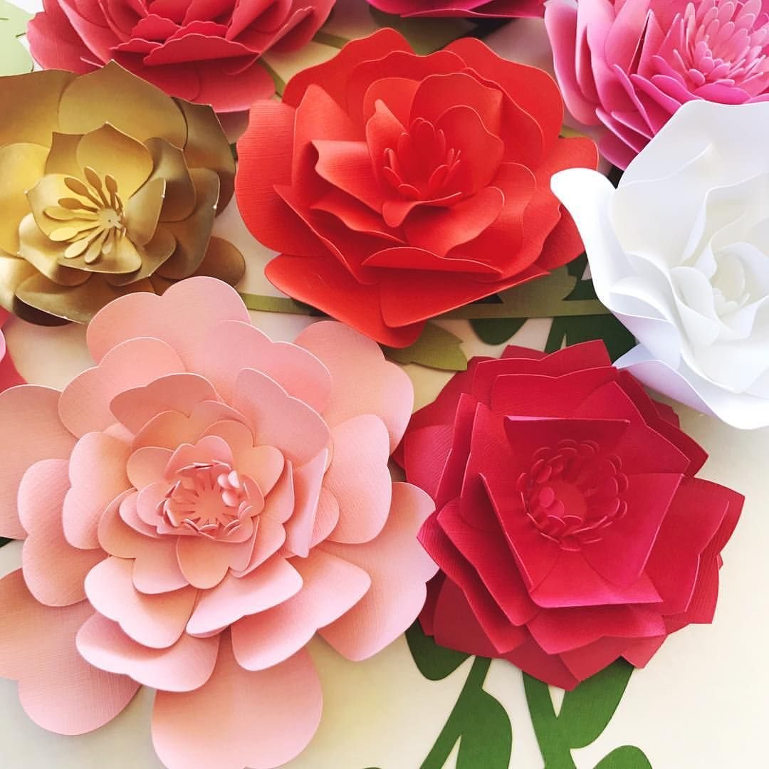 A splash of fall colors. With these paper flowers. For table top ...