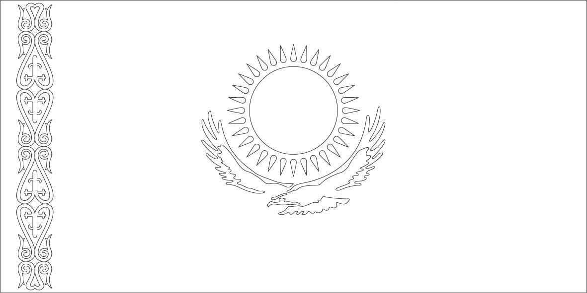 kazakstan flag coloring page sonlight core c window on the world