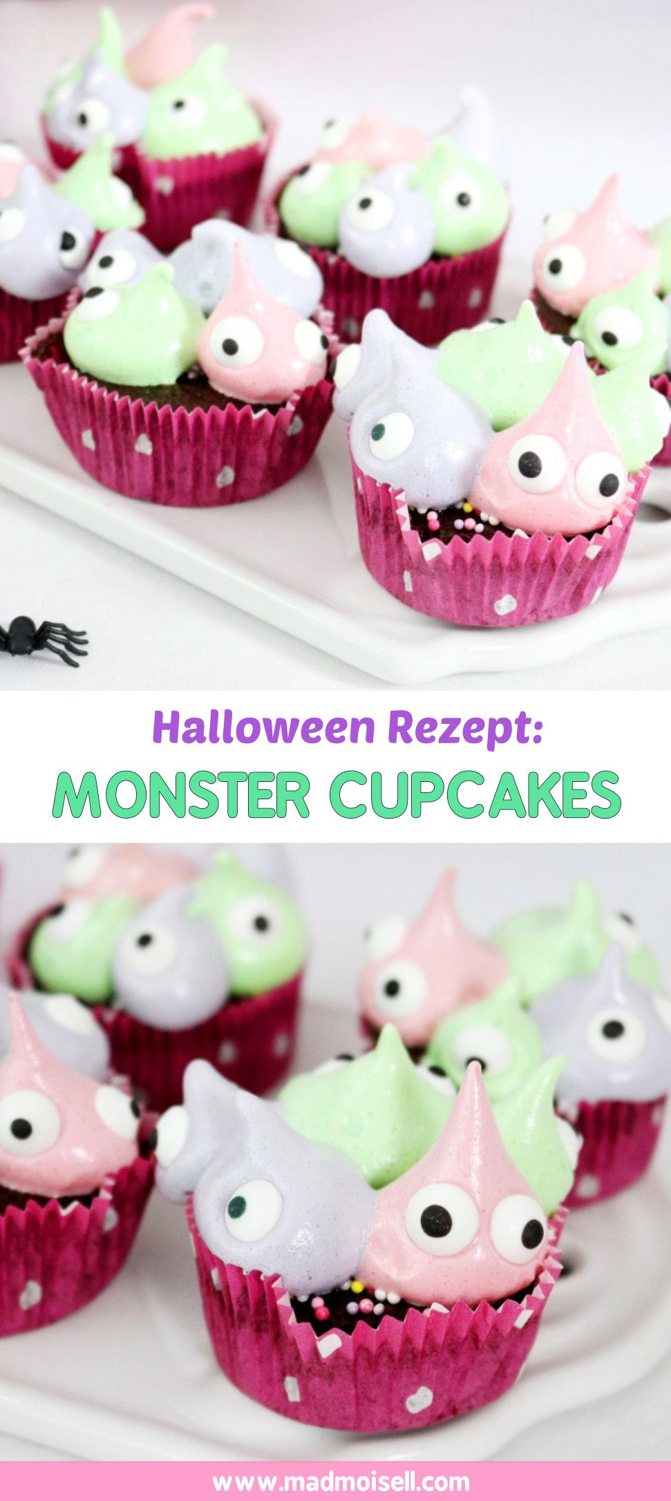Monster Cupcakes backen: Einfaches Muffin Rezept für Halloween ...