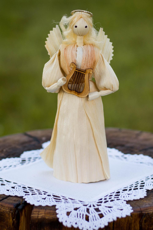 "Traditional folk handmade corn husk doll 7/"""