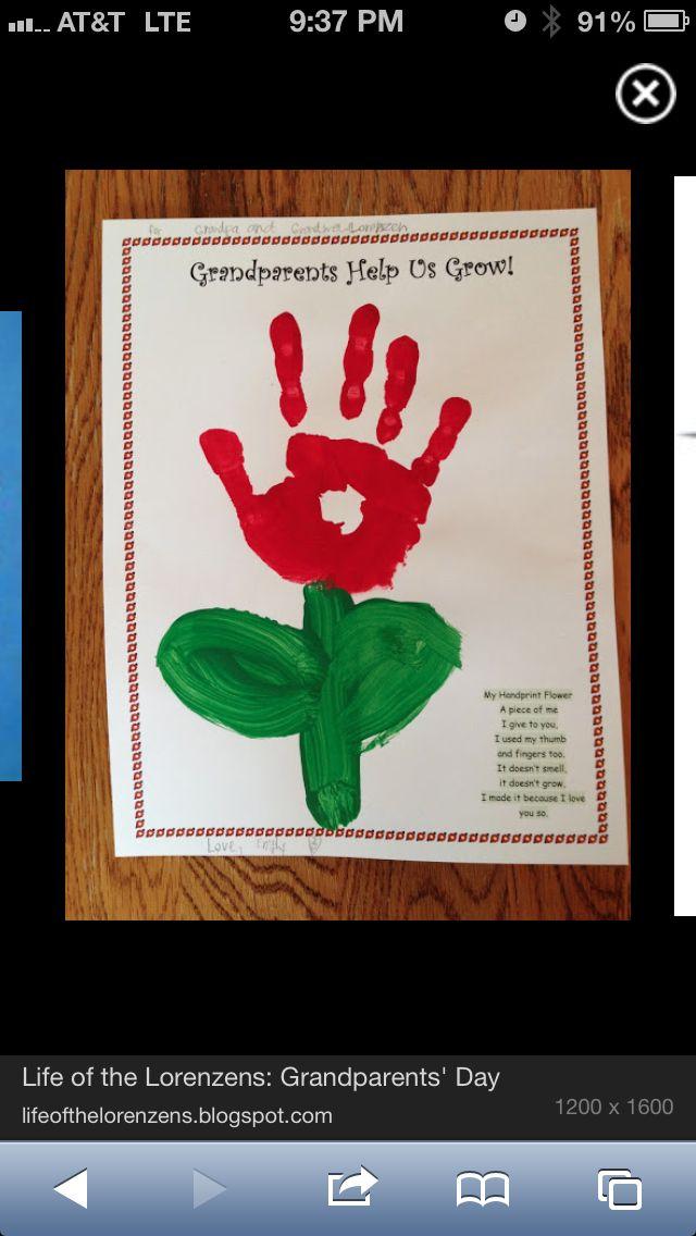 Flower #grandparentsdaycraftsforpreschoolers