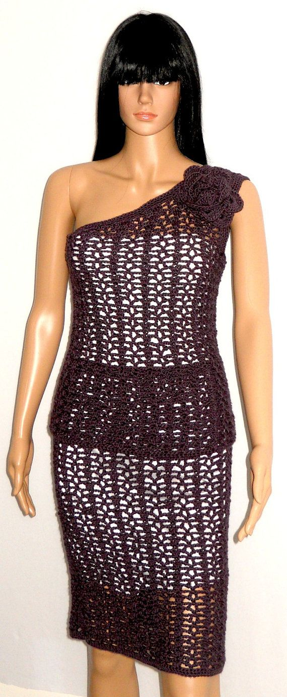 Crochet Clothing Pattern - Crochet Skirt - Cold Shoulder ...