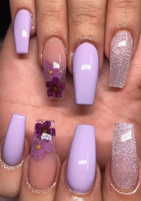 20 Lavender Coffin Nails Design For Acrylic Nails 2020 Latest Fashion Trends For Woman In 2020 Purple Acrylic Nails Purple Nails Coffin Nails Designs