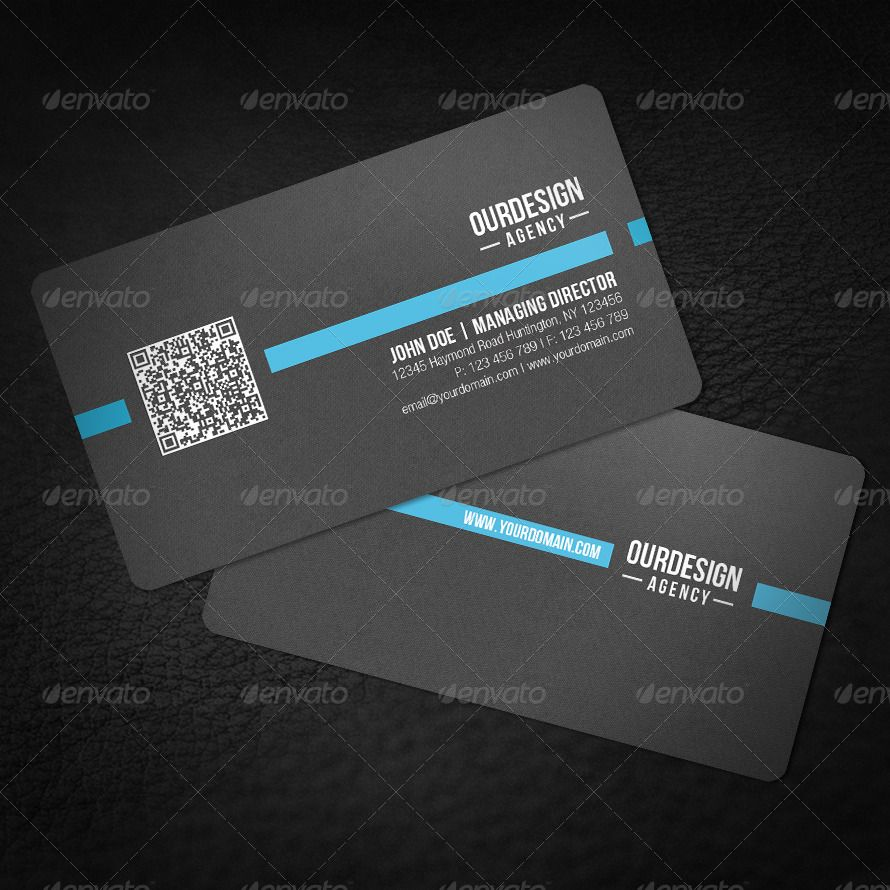 Rounded Corner Qr Code Business Card Qr Code Business Card