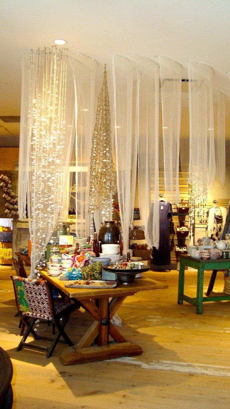 Anthropologie Display/ in front of windows, netting or ...