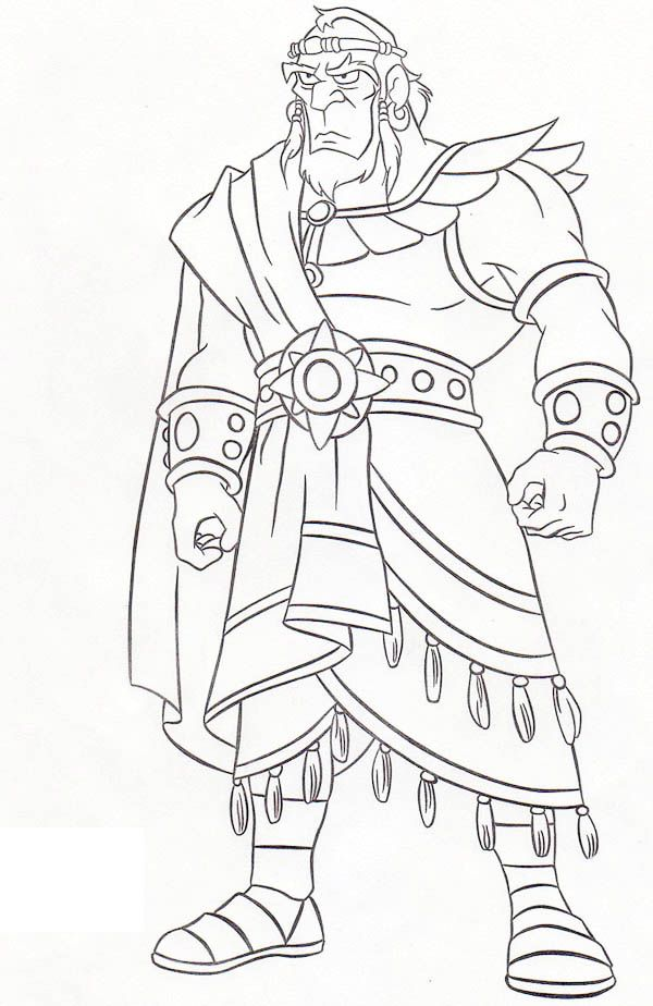 Awesome King Saul Coloring Page Mighty Man Jeremiah 9:23