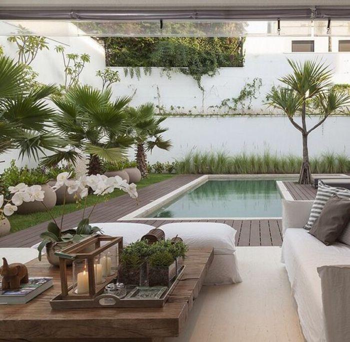 tendance plage de piscine bois composite, un salon de jardin ...
