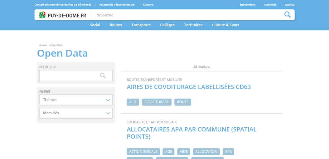 Airtable Plateformes territoriales open data