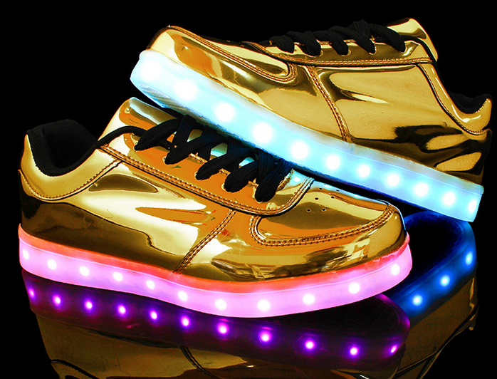 sneakers for cheap 370d2 4bacc Light up shoes Luminous Shoes Sneaker Casual golden Shoes
