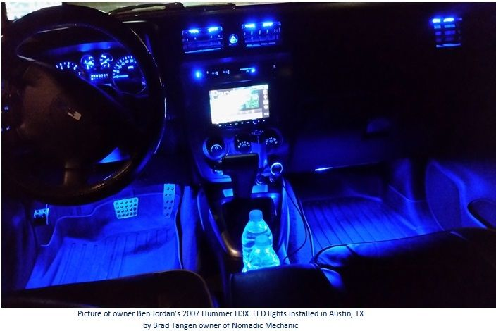 If The Millennium Falcon Had All Blue Led Interior Lights Instead Of White Lights It Would Look Somethin Interior Led Lights Hummer Interior Car Interior Decor