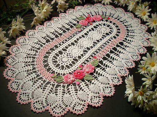 Tapete En Crochet Elvira Pinterest Crochet Crochet Doilies