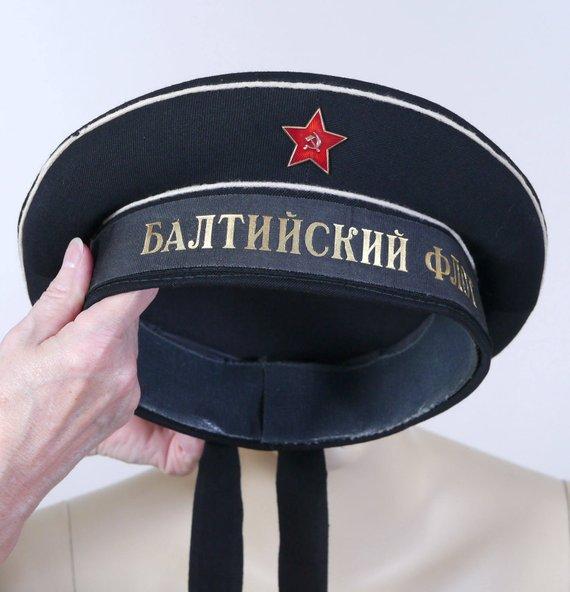 4af3555d ... amazon vintage mens russian navy hat soviet navy peakless cap size  medium baltic fleet cloisonne r ...
